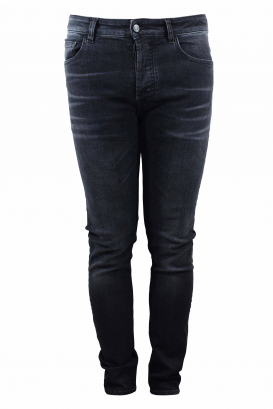 Marcelo Burlon Slim grey jean with red wings at the back on scalves