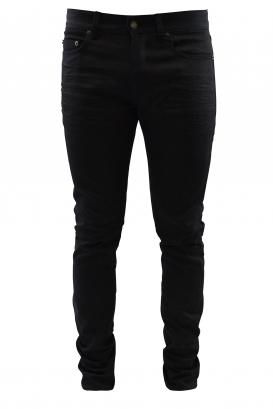 Saint Laurent Straight glossy black jean