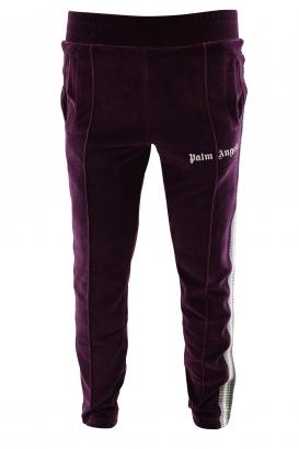 Velvet track trousers