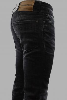 Dsquared2 black faded Slim jean with button closure