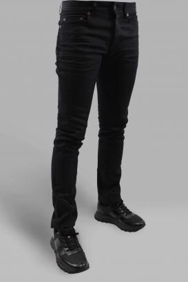 Jean Straight Saint Laurent noir lustré coupe droite