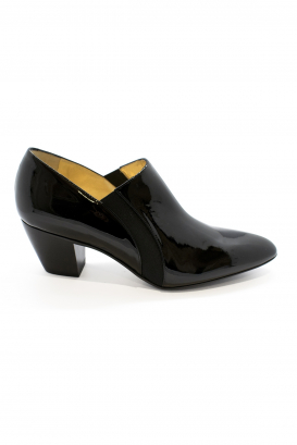 Walter Steiger Seventy Eight boots in black patent leather