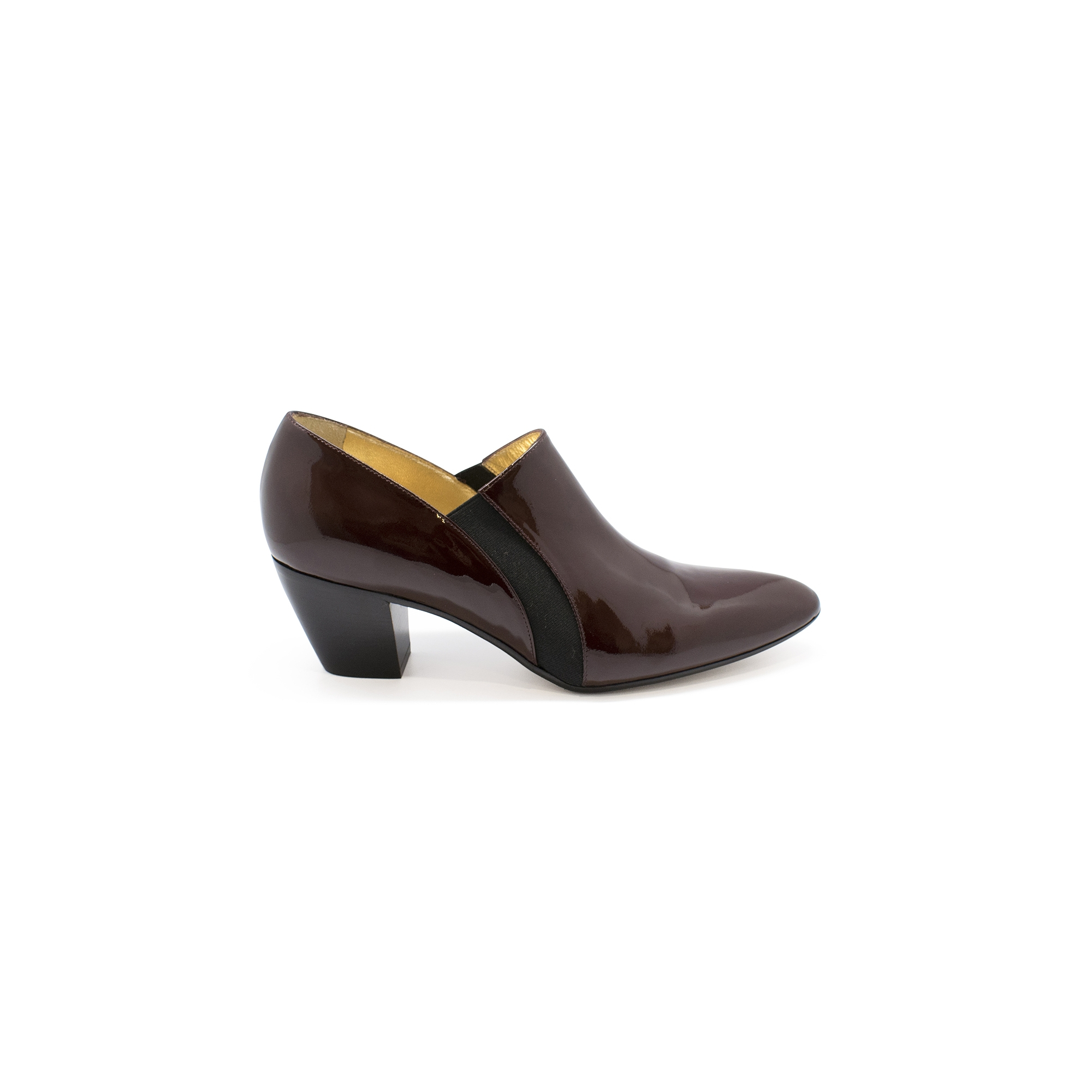 Walter Steiger Seventy Eight boots in bordeaux varnished leather
