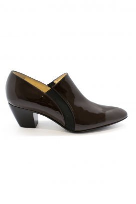 Walter Steiger Seventy Eight boots in brown varnished leather