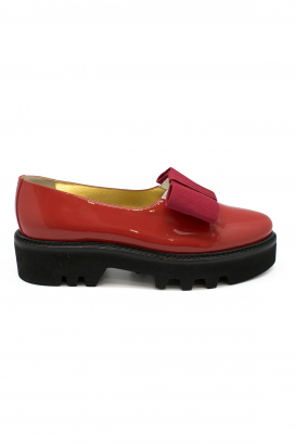 Walter Steiger Smoking shoes in red patent leather