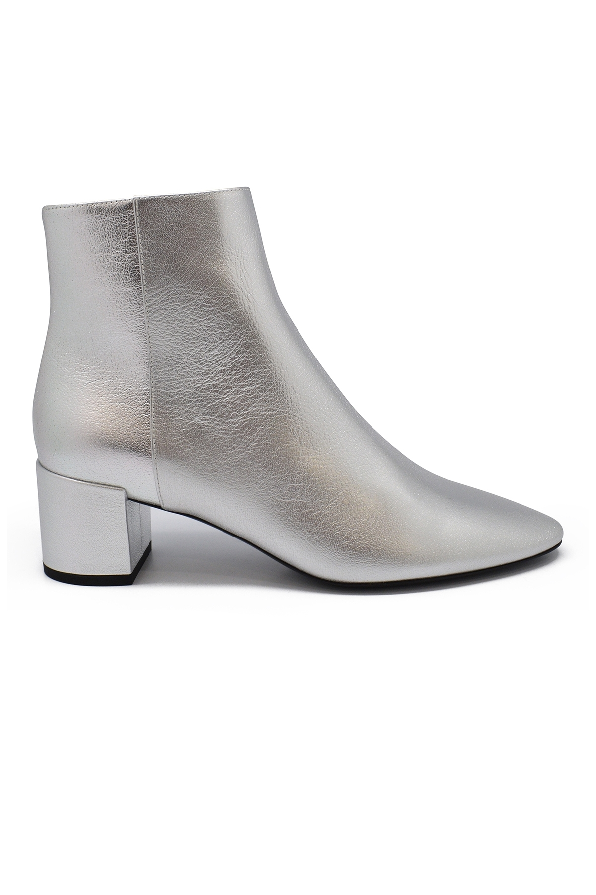 Saint Laurent Loulou 50 silver ankle boots