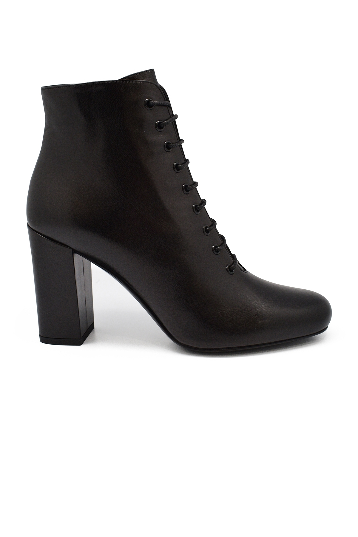 Saint Laurent Babies 90 lace-up black boots