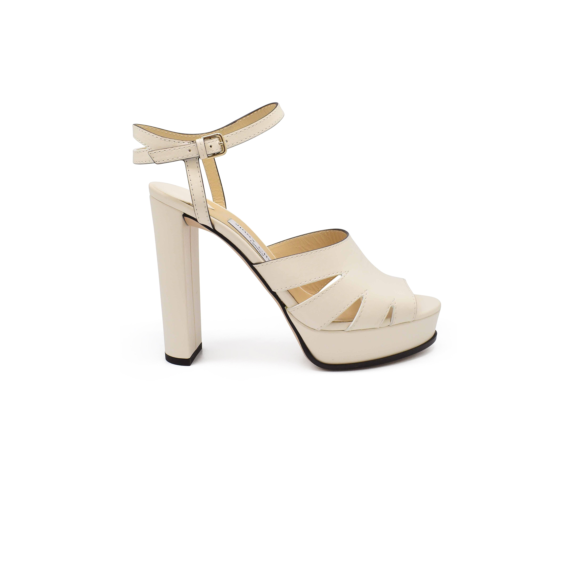 Jimmy Choo Hermione 120 high sandals in white leather