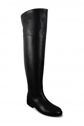 Bottes cuissardes Cavalières Valentino en cuir noir