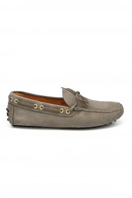 Mocassins Car shoe en cuir noir.