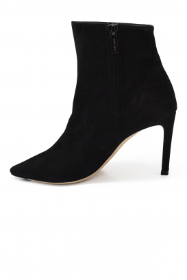 Jimmy Choo Hurley 100 boots in black leather and suede with detachable parts with buttons and high heel