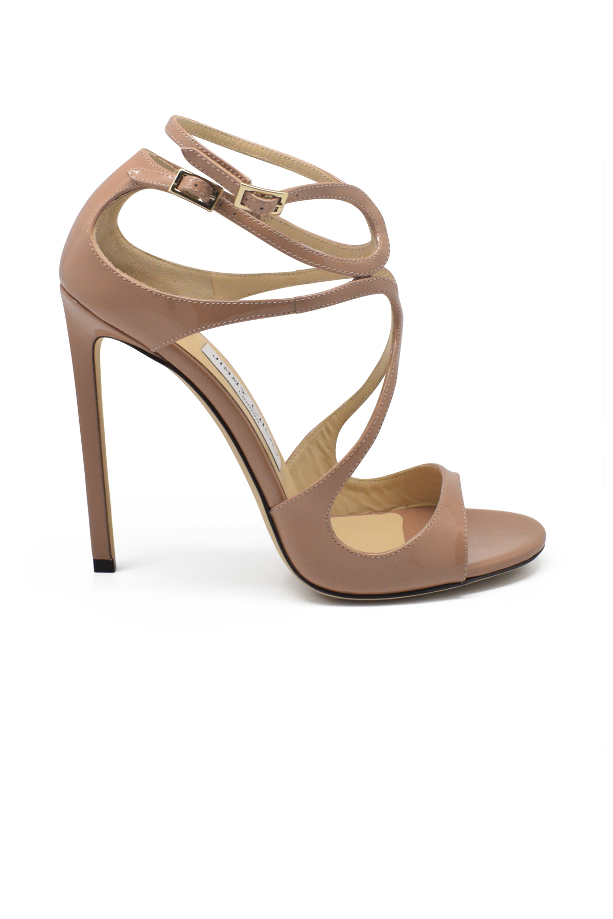 Jimmy Choo Lance sandals in nude patent