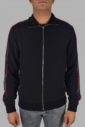 Alexander McQueen logo tape track jacket