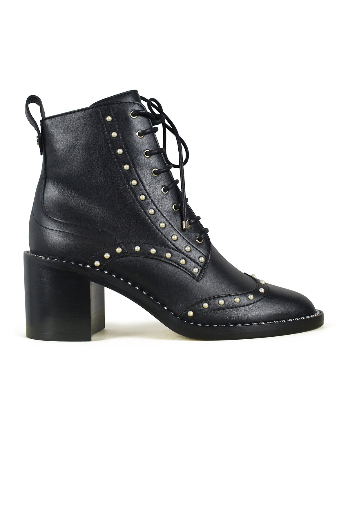 Jimmy Choo Hannah black boots with pearls