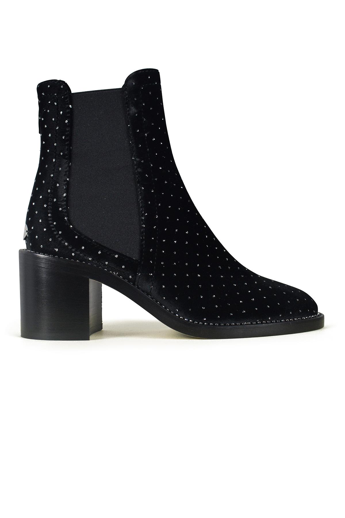 Jimmy Choo Meril boots in black velvet