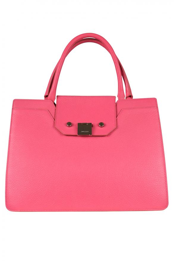 Jimmy Choo Riley model handbag in pink leather.