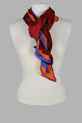 Alexander McQueen triangular scarf.