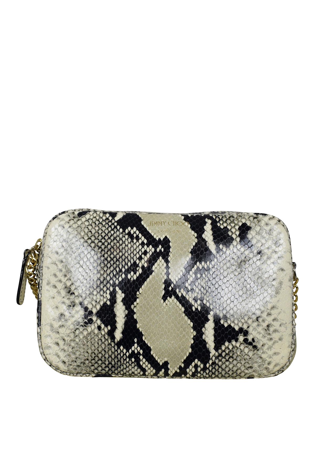 Jimmy Choo handbag in pattern leather.