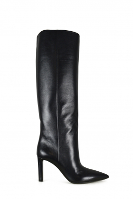 Kate 85 Saint Laurent boots in black leather.