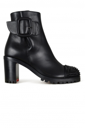 Olivia Snow Louboutin ankle boots in black calfskin.