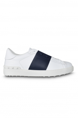 Valentino Open sneakers white with navy strip