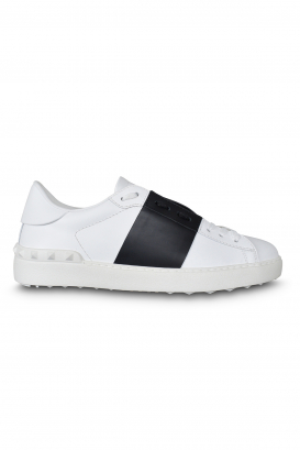 Valentino Open sneakers white with black strip