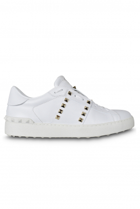 Valentino Rockstud 11 Untitled sneakers white with platinum stud