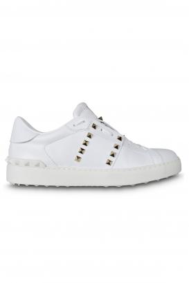 Valentino Rockstud 11 Untitled sneakers white with platinum stud