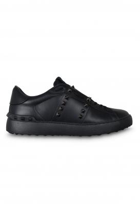 Valentino Rockstud 11 Untitled sneakers black with platinum stud