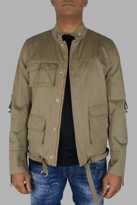Valentino beige jacket with zip closure.