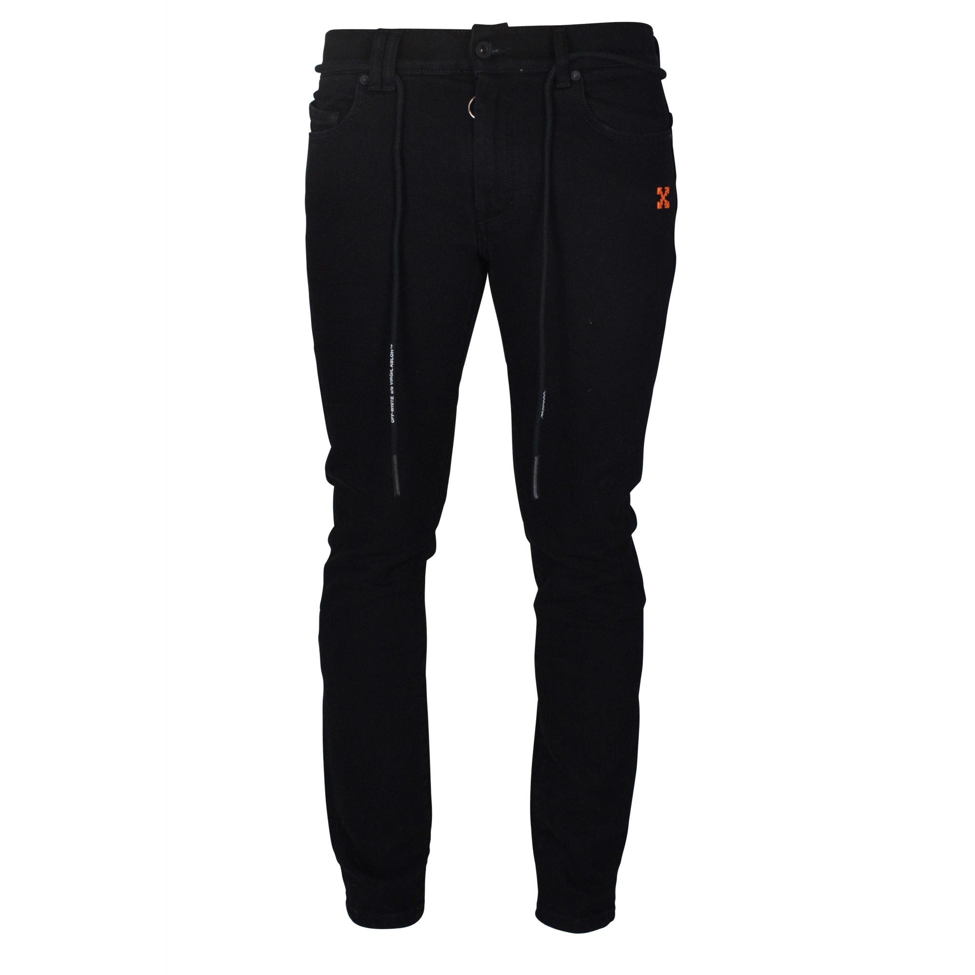 Black Off-White slim jeans.