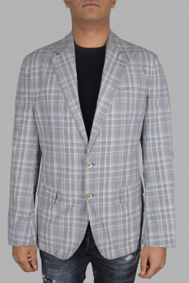 Gray Dolce & Gabbana jacket.