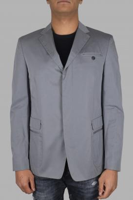 Prada jacket in gray cotton.