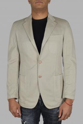 Prada jacket in beige cotton.