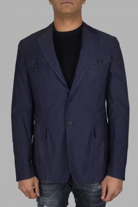 Prada jacket in blue cotton.