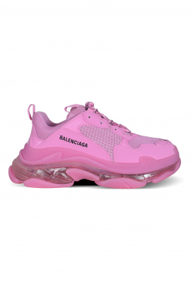 Pink Triple S Clear Sole Balenciaga sneakers.