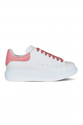 Alexander McQueen sneakers in smooth white calfskin.