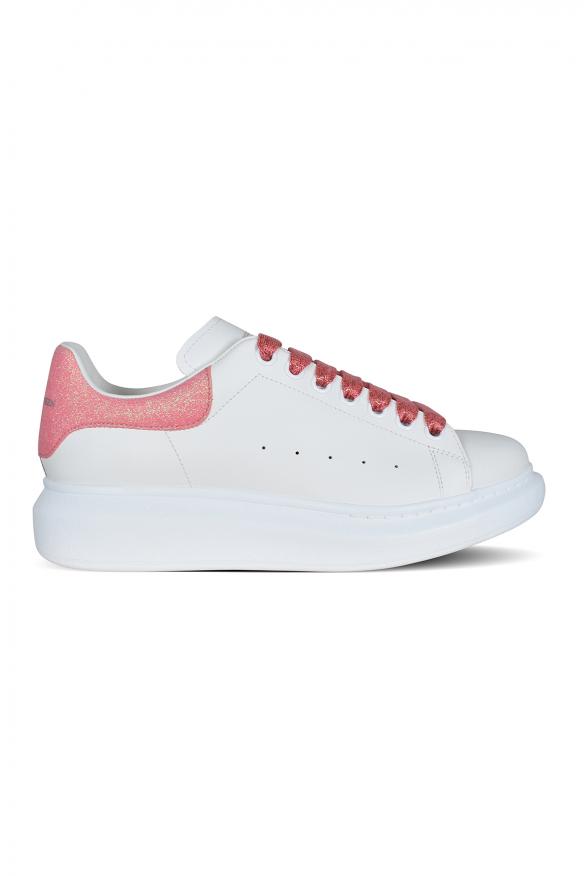 Alexander McQueen sneakers in smooth white calfskin.