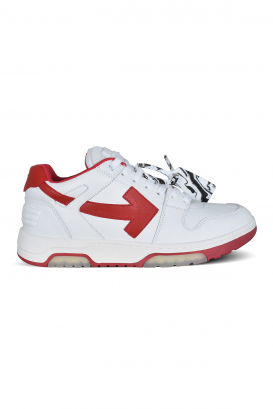 """Out Of Office """"OOO"""" Off-White sneakers in white leather with white laces."""