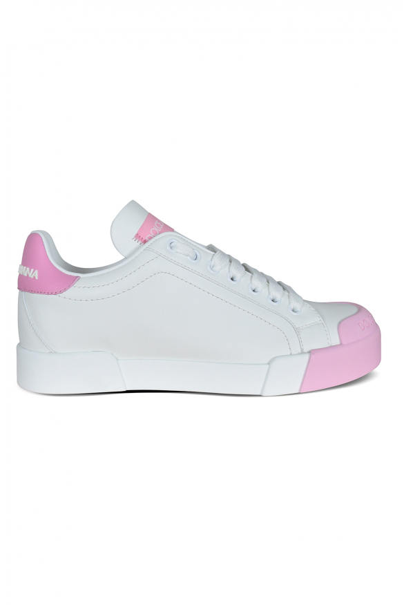 Dolce & Gabbana sneakers in white leather.