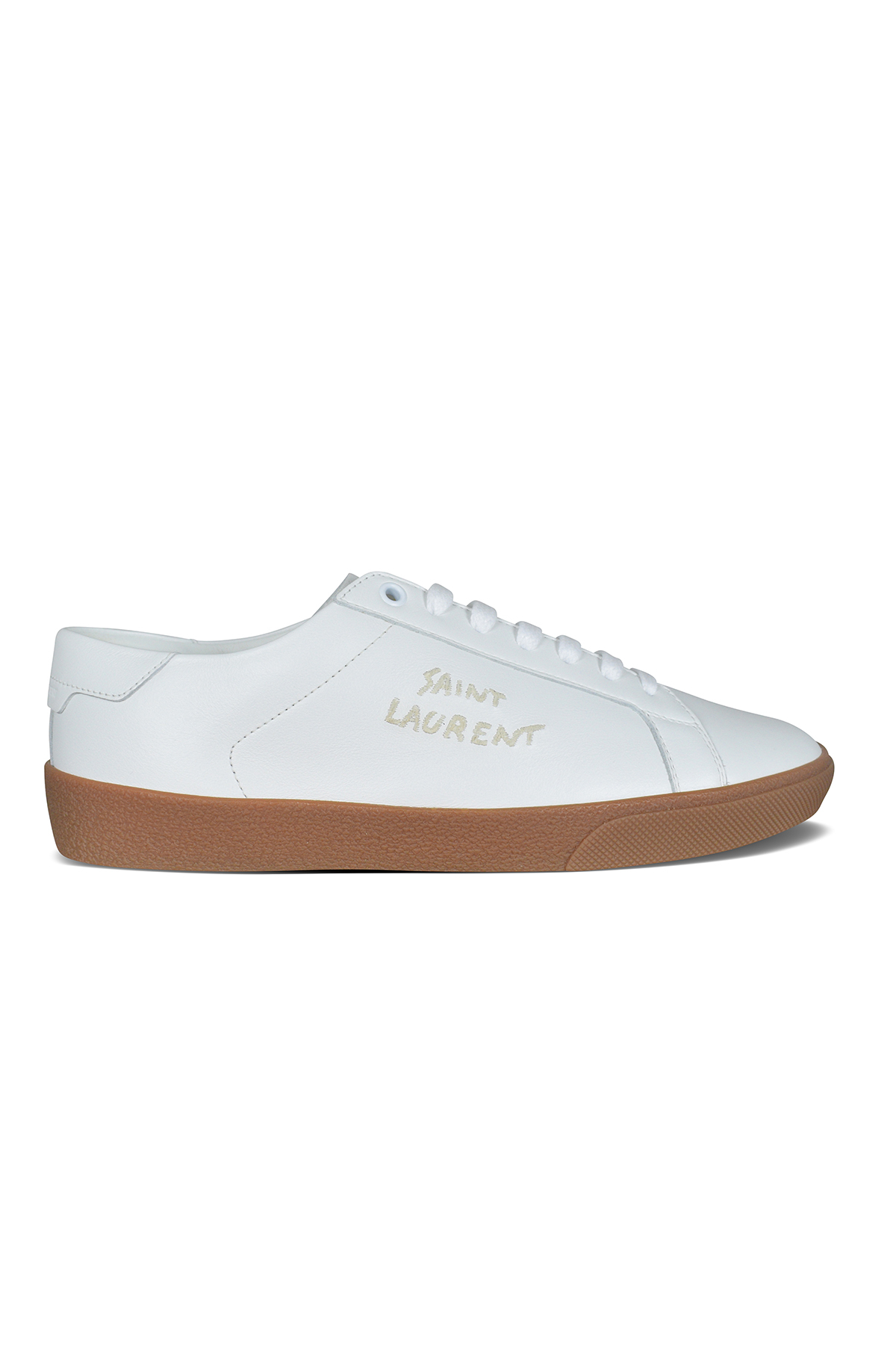 Saint Laurent Court Classic SL/06 sneakers in white calfskin.