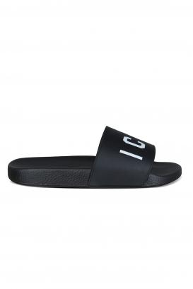 Dsquared2 slides in black rubber.