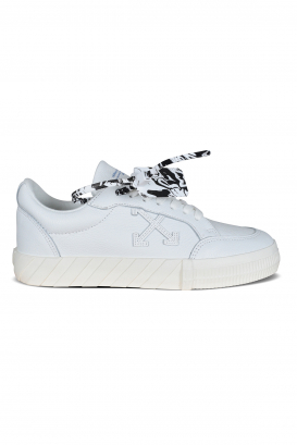 Low Vulcanized sneakers in white leather.