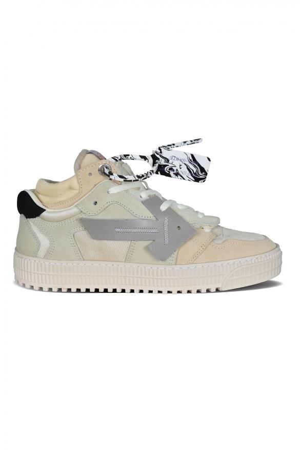 Off Court sneakers in beige suede.