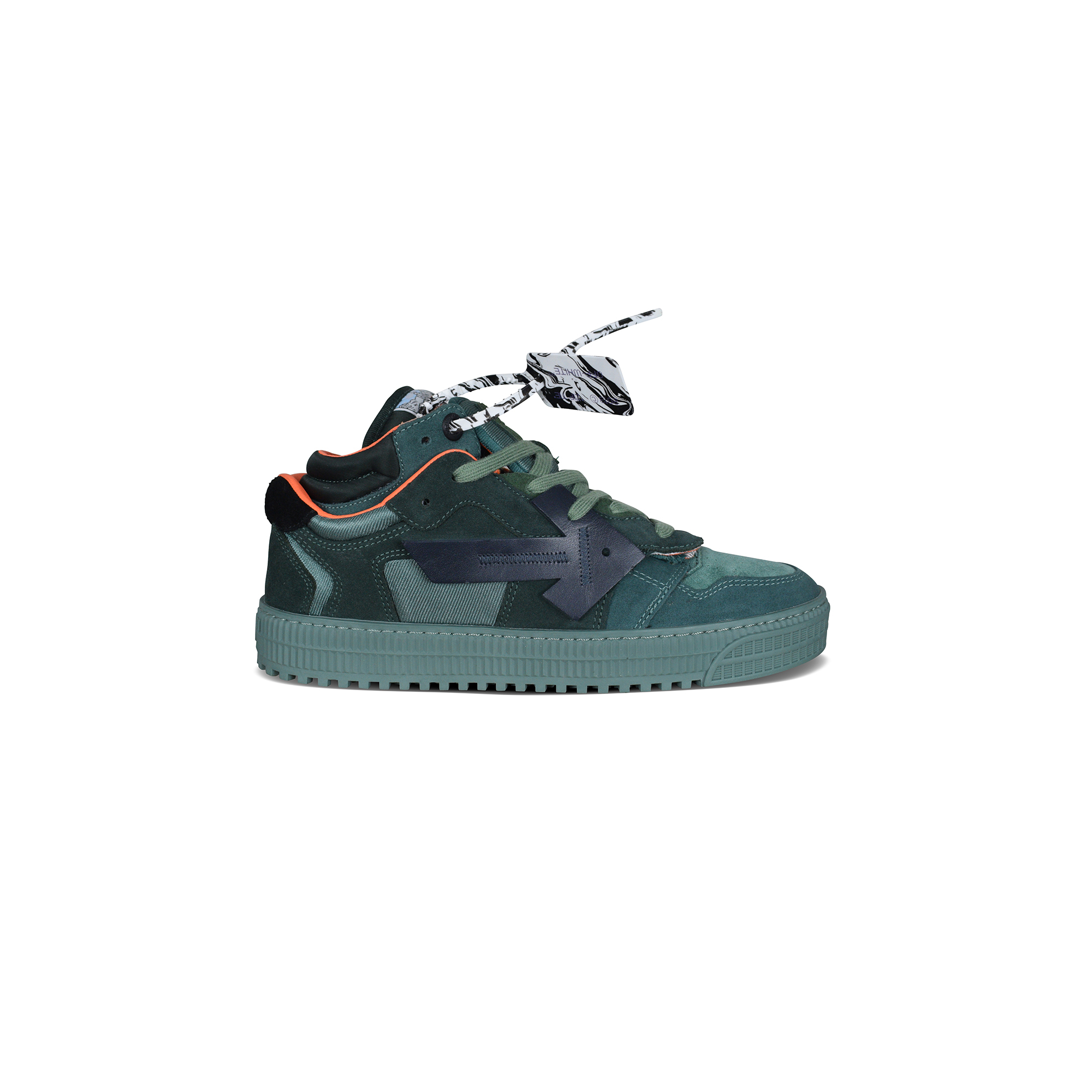 Off Court sneakers in green suede.