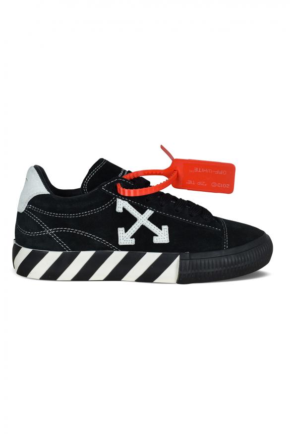 Low Vulcanized sneakers in black suede.