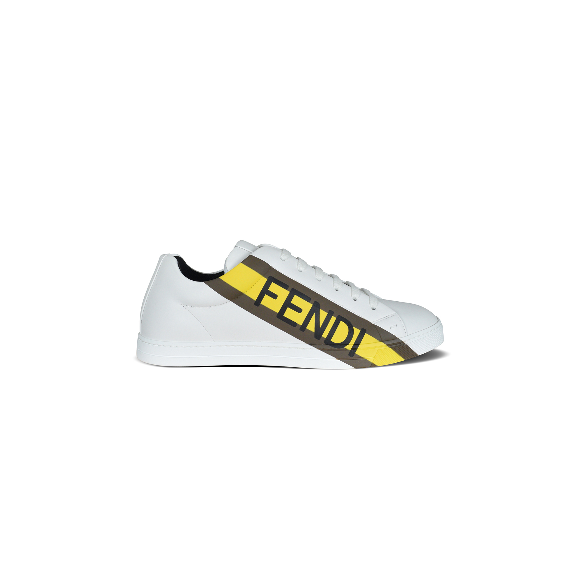 Fendi sneakers in white leather.