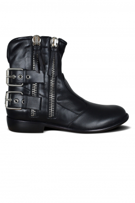 Giuseppe Zanotti boots in black leather.