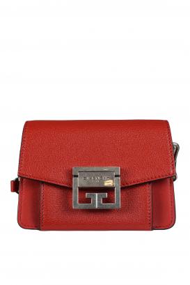 GV3 nano Givenchy shoulder bag in red leather.