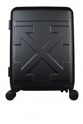 Matt black Off-White suitcase.